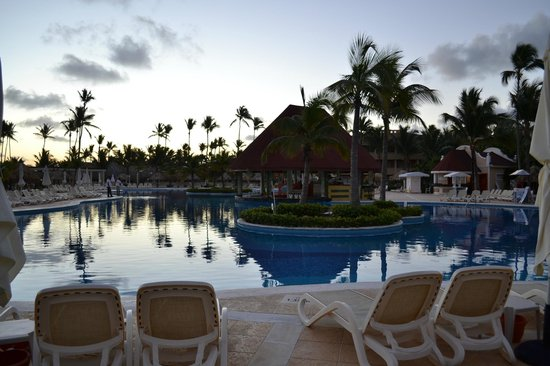 Luxury Bahia Principe Ambar Blue Don Pablo Collection:                                                                         Pool at sunrise