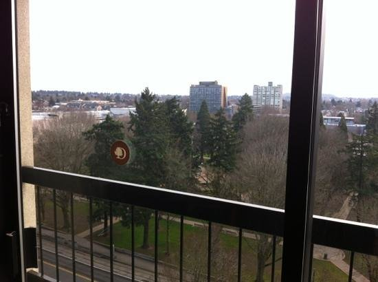 DoubleTree by Hilton Hotel Portland:                   12th floor with balcony.
