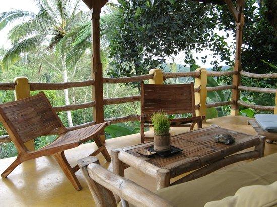 Sarinbuana Eco Lodge:                   Terrace in Tree House bungalow