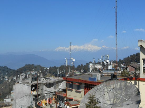 Hotel Tranquility :                                     view from the roof towards Kangchenjunga