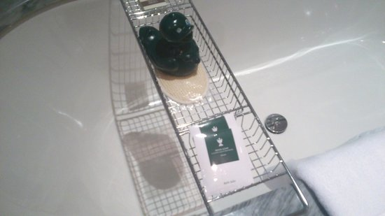 Hotel Kamp:                   Of course the bathtub has a duck!