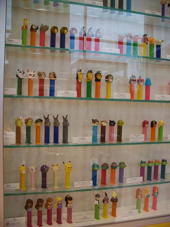PEZ Visitor Center:                   Pez display