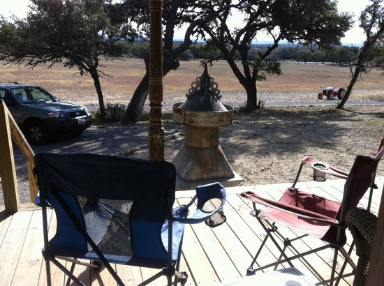 Tonkawaya Ranch B&B:                   It really is in a beautiful area.  We took our own folding chairs for sentimen