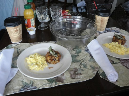 Birchfield Manor Country Inn :                   Breakfast served to our room - Tenderloin hash
