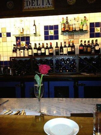 Trattoria Delia:                   I like dining at the bar.