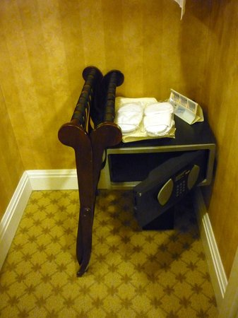 Royal Park Hotel:                   Room Safe and provided Slippers (in the closet)