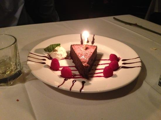 The Capital Grille:                   yummy chocolate dessert