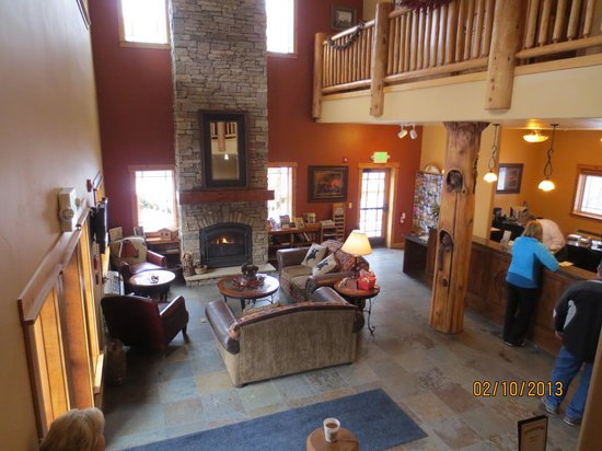 Cowboy Village Resort:                   Inside lobby