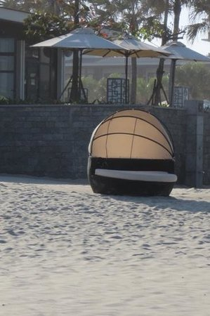 Hyatt Regency Danang Resort & Spa:                   sunchair on the beach