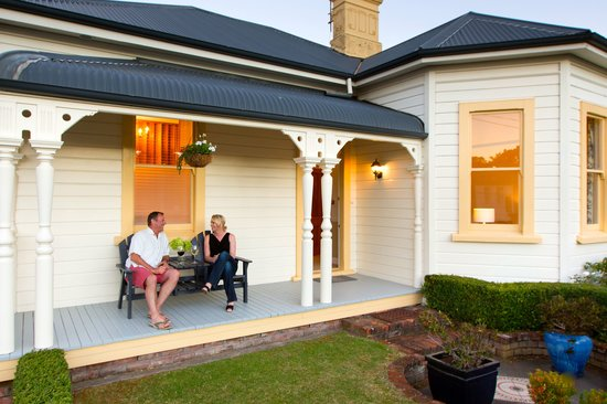 Hosking House: Front Porch.  Perfect spot for a wine or coffee.