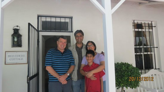 Belvedere Cottages & B&B: The Chauhan family sent us a photo
