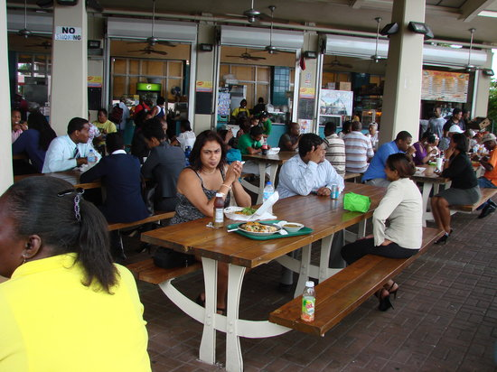 Kapok Hotel:                                     Eating local Lunch at the Breakfast Shead, Port-of-Spain