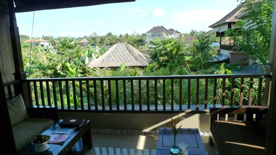 Bebek Tepi Sawah Villas & Spa:                   Balcony view from batuan Villa
