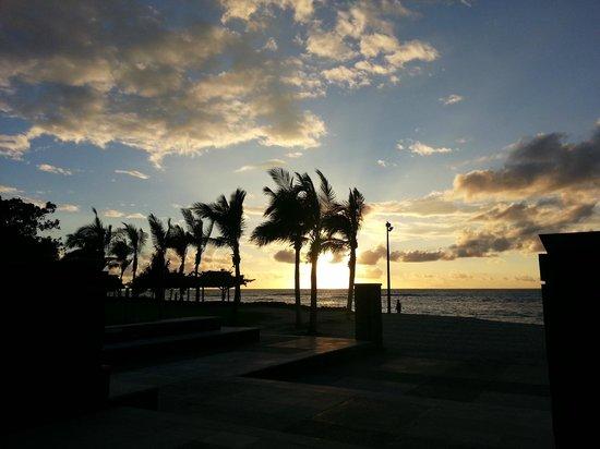 InterContinental Fiji Golf Resort & Spa:                   Beautiful Sunset from Courtyard at Intercontinental