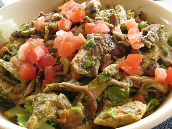 Jaffa Cafe Paso Robles :                   Chicken Pesto Salad - light & fresh