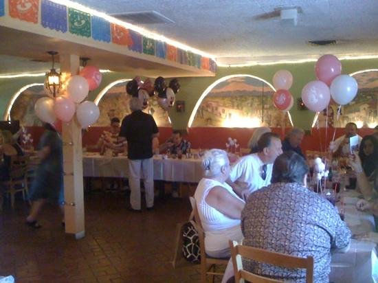 El Charro Mexican Dining:                   baby shower.