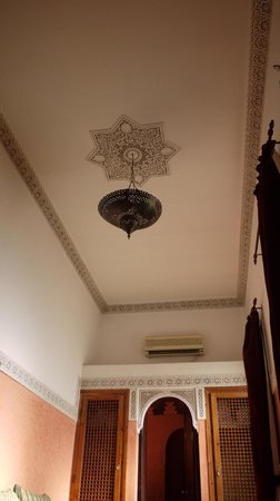 Riad Aguerzame:                   ceiling decor