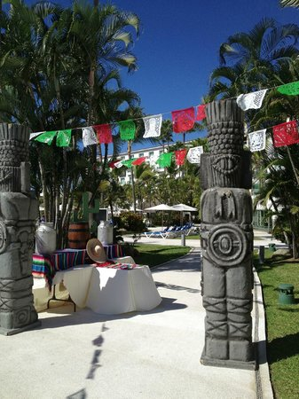 Hard Rock Hotel Vallarta:                   Set up for the Mexican fiesta