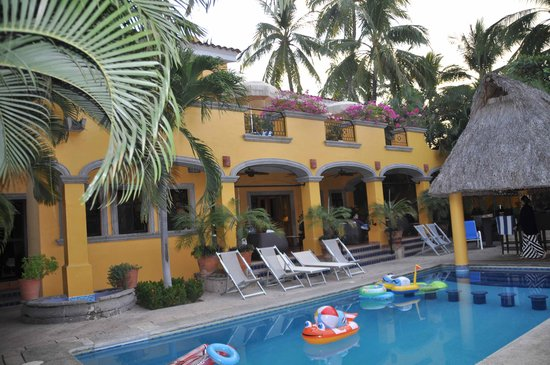 Hacienda Patrizia's Mexico B&B:                   The pool is a great place to kick back