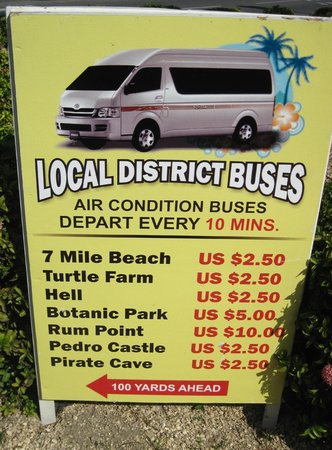 Sunshine Suites Resort :                   Cayman bus schedule.