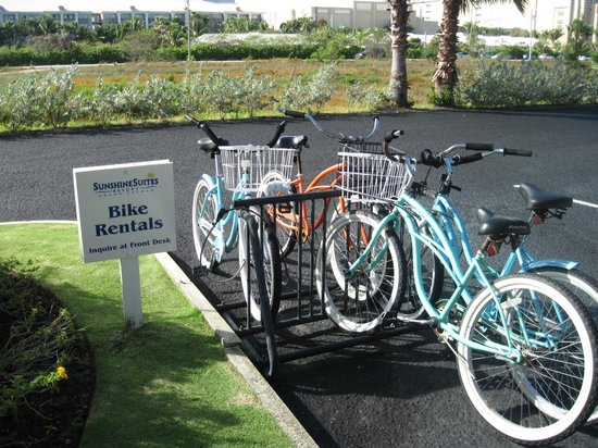 Sunshine Suites Resort:                   Bikes to use at Sunshine Suites.