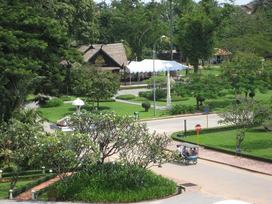 Raffles Grand Hotel d'Angkor:                   Road seen from room