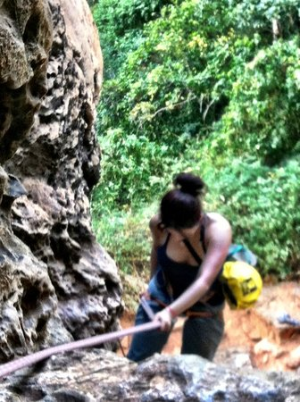 Railay Rock Climbing Shop - Day Adventures:                   Absiling