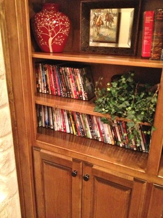 Inn on Lake Granbury:                   DVD's in the den