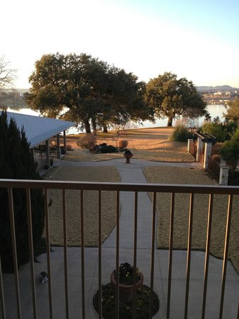 Inn on Lake Granbury:                   Morning view from Comanche