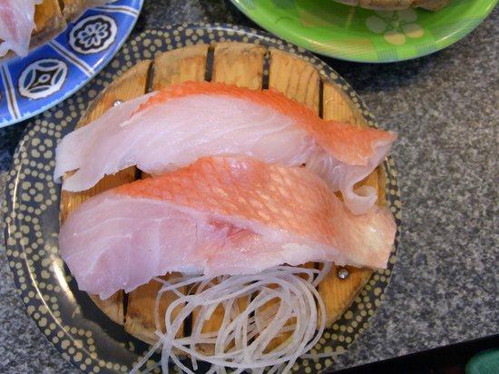 魚磯の金目鯛の握り