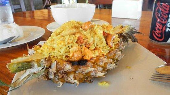 Koh Mak Resort:                   Food at Day Bed Restaurant