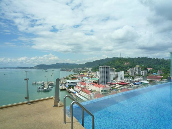 Four Points by Sheraton Sandakan:                                     View from pool