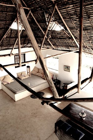 Mkoko House :                                     Main living area on first floor under the large makuti roof