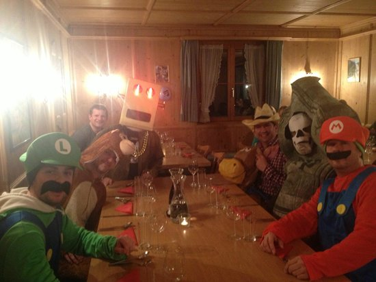 Chalet Tirol :                   Just another night at dinner lol