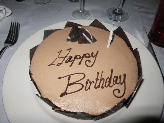 La Pirogue Resort & Spa-Mauritius:                   meine Geburtstagstorte                 