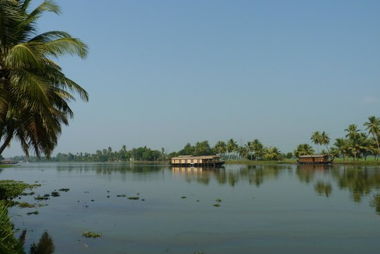 Citrus Retreats Alleppey:                   View outside our room overlooking backwaters