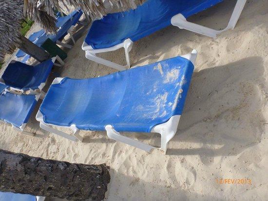 Tropical Princess Beach Resort & Spa:                                                       Etat des transats de la plage (photo 2)