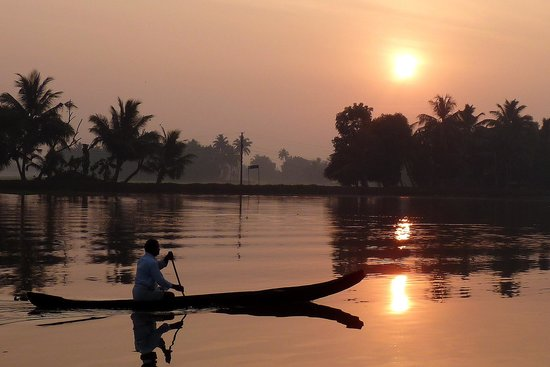 Citrus Retreats Alleppey:                   Early morning Sunrise from Citrus Alleppy