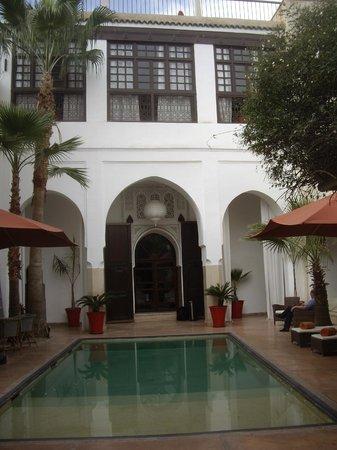 Riad Charai:                   inside the courtyard