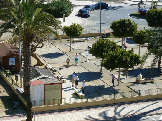 BQ Andalucia Beach Hotel :                                     Playing Petanque between hotel and sea