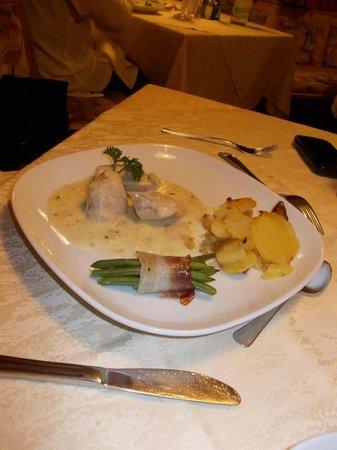 Hotel Rosslaufhof :                   Una portata della cena.
