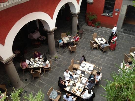 Casona de la China Poblana:                   the patio/ restaurant
