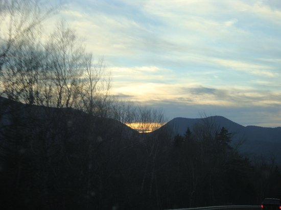 White Mountain National Forest:                                     Sunset over the Mountain