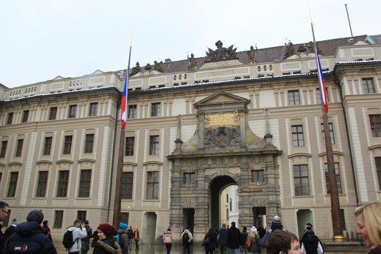 Castle Residence Praha:                                     Entrance to Castle                                  