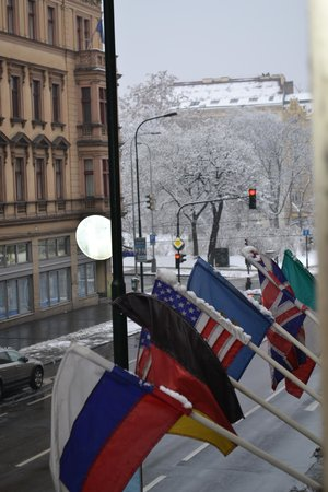 Hotel Praga 1:                                     Charles Square from room