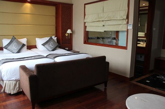 Conifer Boutique Hotel:                   Room with King bed.