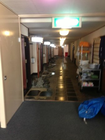 Atami Kinjokan :                   南館の廊下はちょっと和風です