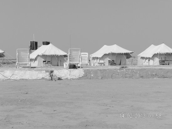 Le Royal Camps:                   The view of the tents