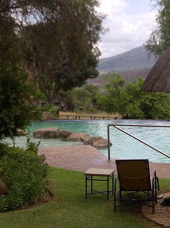 Bakubung Bush Lodge:                                     View from the deck chairs at the pool
