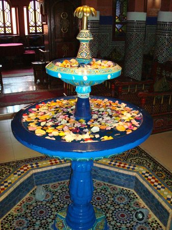 Moroccan House Hotel:                   Entrance fountain